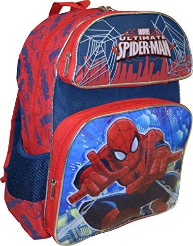 """Marvel Spiderman Skyscraper Deluxe 3D Embossed 14"""" School Backpack"""