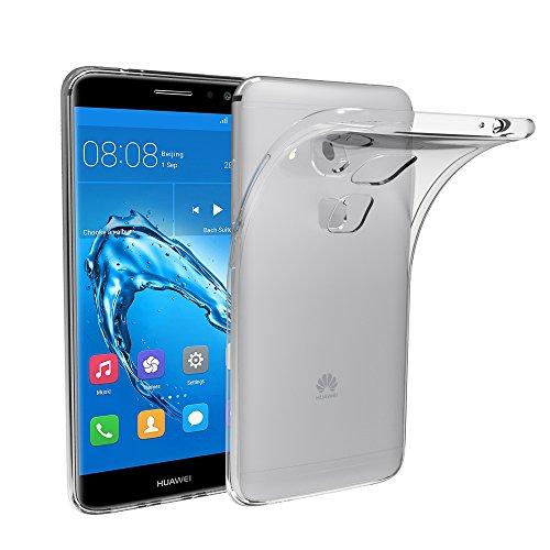 Huawei Nova Plus Funda, iVoler TPU Silicona Case Cover Dura Parachoques Carcasa Funda Bumper para Huawei Nova Plus, [Ultra-delgado] [Shock-Absorción] [Anti-Arañazos] [Transparente]- Garantía Incondicional de 18 Meses