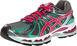ASICS Women's GEL-Nimbus 15 Running Shoe,Titanium/Hot Pink/Mint,9 M US