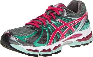 ASICS Women's GEL-Nimbus 15 Running Shoe,Titanium/Hot Pink/Mint,6 M US