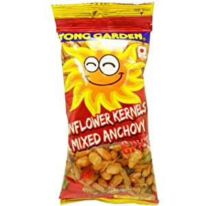Tong Garden Sunflower Kernels Mixed Anchovy Crispy Snack Net Wt 30 G 10 Oz Natural X 5 Bags by Tong Garden Co,.Ltd. Thailand.