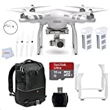 DJI Phantom 3 Advanced Quadcopter Drone with 1080p HD Video Camera+ 16GB Memory Card + Reader + 2 Batteries + Manfrotto Advanced Tri Backpack & more
