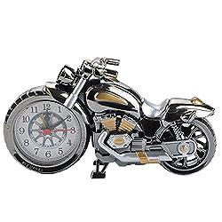 MAKIYO Motorcycle Design Quartz Clock Alarm Clock Time Keeper Timepiece Desktop Decor