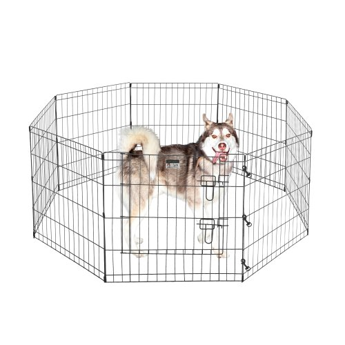 Pet Trex 2205 24 x 24 8 Panel Pen Exercise Playpen for Dogs with High Panel and Gate, 24 x 24