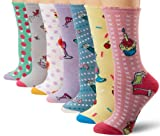 Betsey Johnson Womens Seven-Pair Pack Tasty Treats Pie Crew Socks In Gift Box