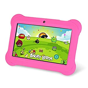 "Zeepad Kids TABZ7 Android 4.4 Quad Core Five Point Multi Touch Tablet PC, 7"", 4GB, Kids Edition, Pink"