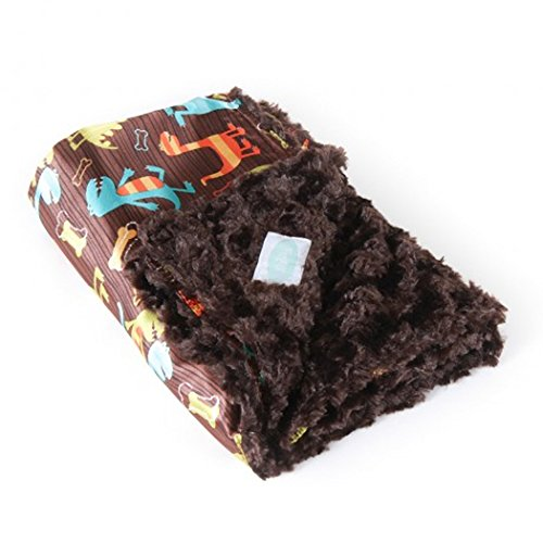 AllyZabba Dino Chocolate Small TravelZabba Baby Blanket 16 x 14 - 1