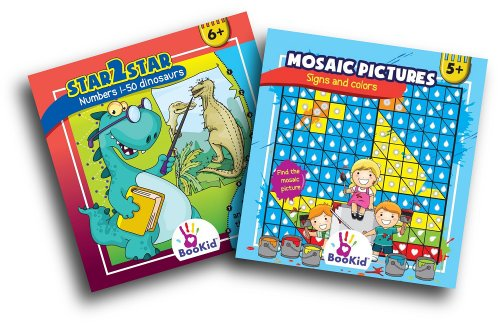 Children Activity Book Pack. Includes 2 Activity Books; Connect the Dots and Drawing Book. For 5&6 Years Olds. - 1