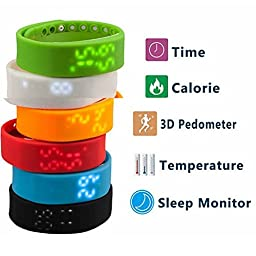 CALISTOUS Sports Health Exercise Can Shrink The Bracelet W2 Smart Wristband White