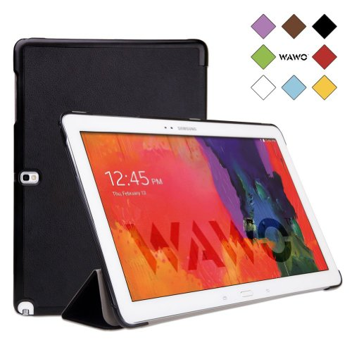 Wawo Samsung Galaxy Note & Tab Pro 12.2 Tablet Smart Fold Case Cover - Black