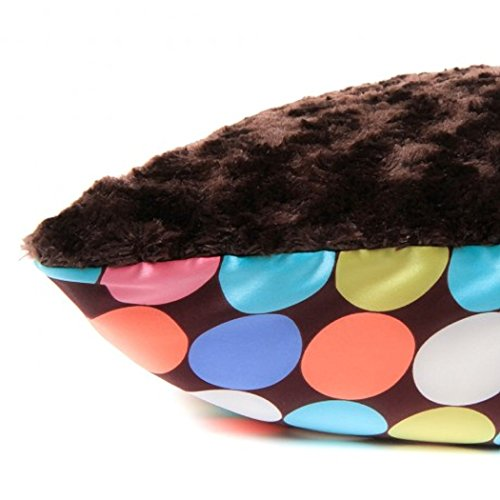 Allyzabba Large Pillowcase Choco-Dot Chocolate (approx 20″ x 29″). - 1