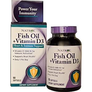 Natrol fish oil and vitamin d3 soft gels 1 x for Fish oil vitamin d3