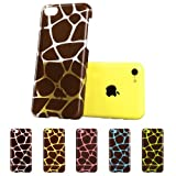 iPhone 5C Case, ESR® Animal Kingdom Series Hard Clear Back Cover Snap on Case for iPhone 5C (Giraffe)