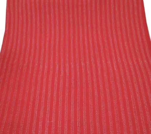 nueva puntada kantha colcha de algodón gudri floral impreso manta roja 106