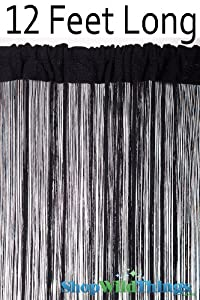 string curtain black 3 ft x 12 ft fire
