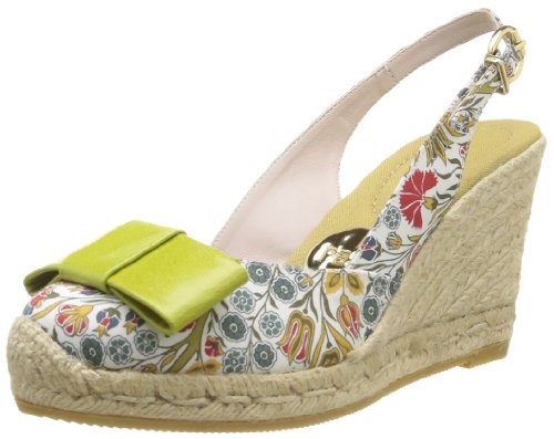 RAS 6062, Espadrillas con zeppa Donna, multicolore (Multicolore (Liberty Yellow/Kid Lime)), 39