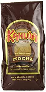 Coffee Kahlua Mocha Gourmet Ground Coffee, 12-Ounce Bags (Pack of 2)