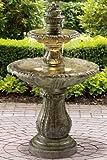 "Venetian Decorative Fountain, 57""Hx33""D, MOSS"