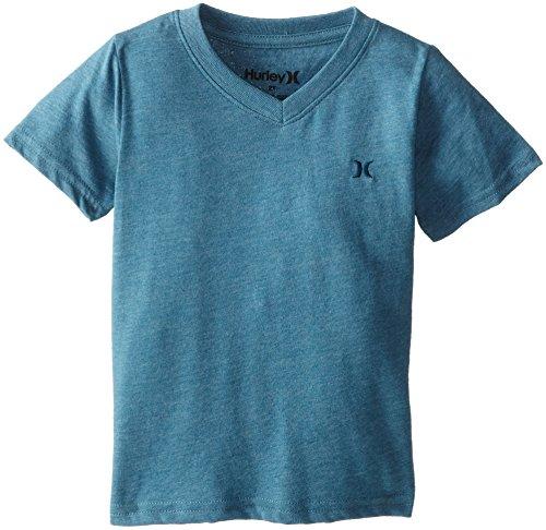 Hurley Little Boys' Icon Premium V T Shirt, Rift Blue Heather, 2T front-944911