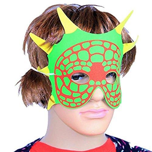 Dazzling Toys 12 Dinosaur Foam Masks Approx. 7 Inch (D244)