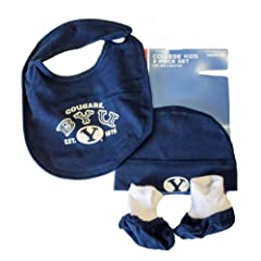NCAA Officially Licensed Brigham Young University (BYU) Cougars Hat Bib and Booties...