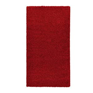 ikea adum rug high pile bright red 80x150 cm amazon. Black Bedroom Furniture Sets. Home Design Ideas