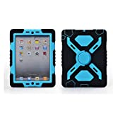51og2b1l32L. SL160  IPad Mini 1 & 2 Silicone Plastic Kid Proof Extreme Duty Dual Protective Back Cover Case with Kickstand and Sticker for Apple iPad Mini & iPad Mini with Retina Display   Rainproof Sandproof Dust proof Shockproof