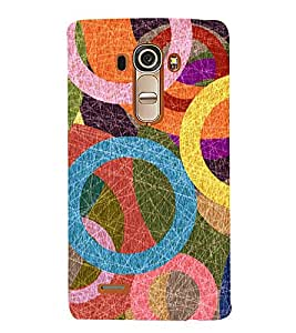 Circular Abstract Painting 3D Hard Polycarbonate Designer Back Case Cover for LG G4 :: LG G4 H815