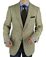 Luciano Natazzi Men's Camel Hair Blazer Modern Fit Jacket
