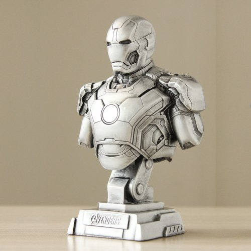 [Reich Model The Avengers Age of Ultron Iron Man Bust Statue 1/4 23cm Mark43 Figure Model Play Arts Doll Toys for Men Student Birthday Holiday Cosplay Collection Gifts (Color :] (Hulkbuster Costume Cosplay)