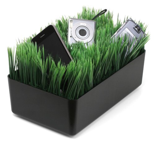 Kikkerland OR08-BK Grass Charging Station, Black