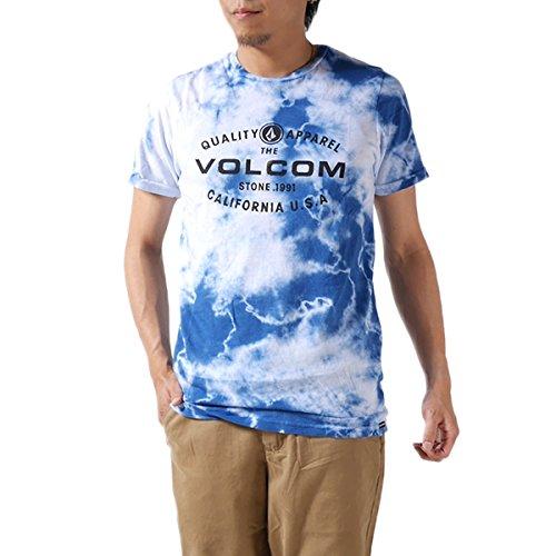VOLCOM ボルコム タイダイ Tシャツ VOLCOMCHAKRAS SS A4311414 半袖Tシャツ 半袖 ロゴ プリント  メンズ 並行輸入品 (L, 1.Blue (STB9)