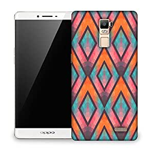 Snoogg Abstract Multicolor Triangles Designer Protective Phone Back Case Cover For OPPO FIND 7