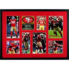 Buy SF 49ers Who's Got It Better Than Us? Patch Display (Featuring Patrick Willis, Michael Crabtree,... by Sports Gallery Authenticated
