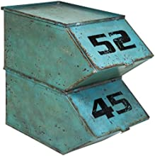 Kare Kontor Lot de 2 boîtes en métal style ancien