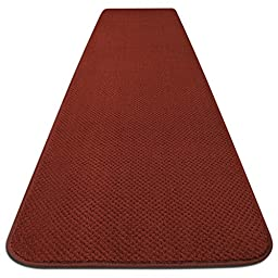 Skid-resistant Carpet Runner - Brick Red - 4 Ft. X 27 In. - Many Other Sizes to Choose From
