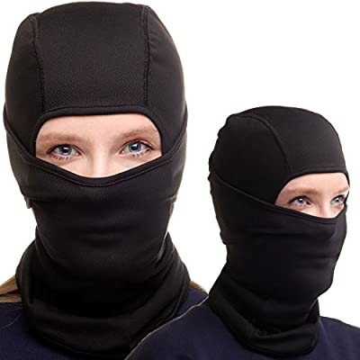 Balaclava Ski Mask - Black Face Mask for Ski and Snowboard - For Women and Men + Free Gift
