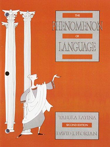 PHENOMENON OF LANGUAGE:TABULA (LATINA) STUDENT BOOK
