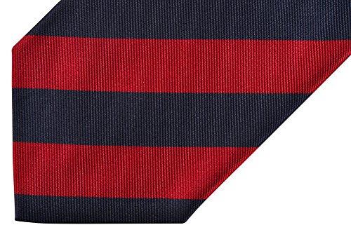 E. Marinella Krawatte Gestreift Rot Seide
