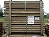 10 X ROUND WOODEN FENCE POSTS POLES OR TREE STAKES 1.5m (5ft) x 40mm diam.