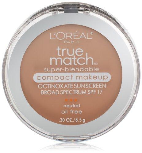 L'Oreal Paris True Match Super-Blendable Compact Makeup, Natural Buff, 0.30 Ounces