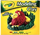 Crayola Modeling Clay Four 1/4 lb Pieces, Red/Yellow/Blue/Green