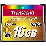 Transcend Ultimate CompactFlash 16GB Speicherkarte (1000x , 160MB/s Lesen (max.), Quad-Channel, VPG-20 Video Performance)
