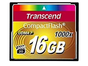 Transcend コンパクトフラッシュカード 16GB ×1000 永久保証 TS16GCF1000
