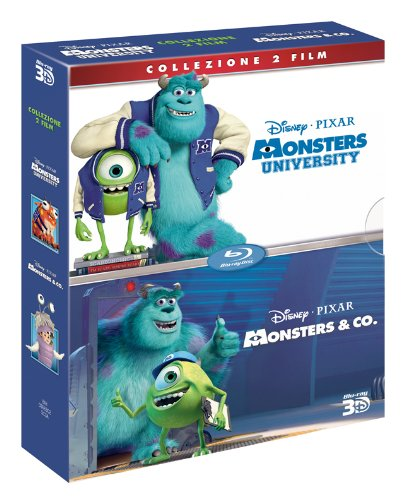 Monsters University (3D) / Monsters & Co. (3D) (2 Blu-Ray+2 Blu-Ray 3D) [Italian Edition]