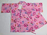 Japanese Yukata Jinbei Kids Kimono for the Summer season. This clothing comes in kids sizes from 115 to 125 cm. It is made from 100% pure cotton. It is available in Rose color.