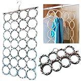Grids London Cintre 28 anneaux pour cravates/ceintures/écharpes