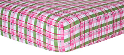 Trend Lab Crib Sheet, Pink Plaid