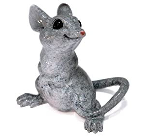 Kitty's Critters 8638 Dan Mouse Figurine, 2-3/4-Inch Tall, Gray