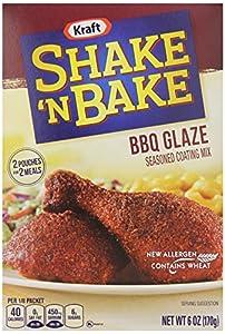 Kraft Shake N Bake BBQ Glaze Seasoned Coating Mix, 6 ounce (Pack of 8)